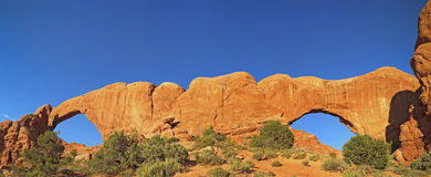 North and South Windows Arches National Park royalty free stock photos