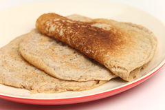 North Staffs oatcakes side view Royalty Free Stock Photo