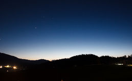 North star night, twilight landscape Royalty Free Stock Photo