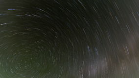 North Star Time Lapse. North star and neighboring stars rotate in the summer night sky stock video