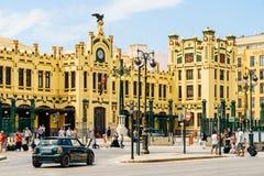 North Station Estacion del Norte or Estacio del Nord is the main railway station in Valencia. VALENCIA, SPAIN - AUGUST 01, 2016: Opened in 1852 North Station stock photo