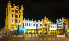 North station  in night. Valencia Royalty Free Stock Photos