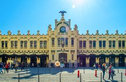 North Station in Valencia, Spain stock image