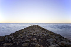 North Stradbroke Island Australia breakwater long exposure Stock Image