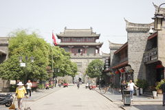 North Street behind Zhaoming Tai  in Xiangyang City(Hubei,China) Royalty Free Stock Image