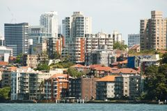 North Sydney - Australia. North Sydney Buildings in Australia Royalty Free Stock Images