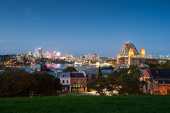 North Sydney and Harbour Bridge Royalty Free Stock Image