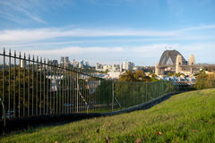 North Sydney and Harbour Bridge Royalty Free Stock Images
