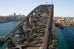 North Sydney from the Harbour Bridge Royalty Free Stock Photo