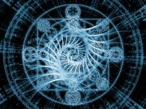 North of Symbolic Meaning. Numeric Connection series. Backdrop of  number and fractal geometry symbols to complement your design on the subject of magic, math Stock Photography
