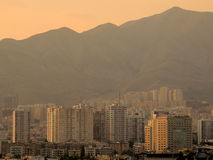 North Tehran skyline by Alborz mountains in afternoon light Royalty Free Stock Photos