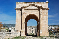 North Tetrapylon in Jerash, Jordan Royalty Free Stock Images