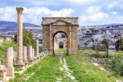The north Tetrapylon in Jerash, Jordan. Royalty Free Stock Image