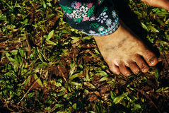 North Thailand: Feet dirty close-up Stock Image