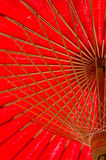 North thailand traditional red umbrella Royalty Free Stock Photo
