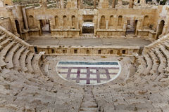 North theater in ancient city of jerash Royalty Free Stock Photo