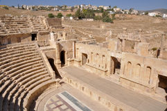 North Theater at Jerash ruins (Jordan) Royalty Free Stock Image