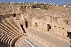 North Theater at Jerash ruins (Jordan) Royalty Free Stock Image