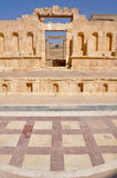North Theater at Jerash ruins (Jordan) Stock Photography