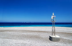 North tip of Rhodes where the Aegean and Mediterranean Meet Royalty Free Stock Photos