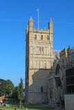 North tower of Exeter Cathedral, Devon, United Kingdom. North tower of the Cathedral Church at Exeter. Originally built around 1400, this city landmark has Royalty Free Stock Photography