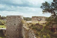 North tower of Koporye fortress Stock Images