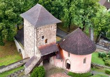 Tower of Kremnica castle, Slovakia royalty free stock photo