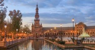 North tower on Plaza de Espana, Seville stock video footage