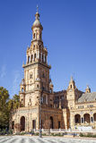 North Tower at The Plaza de Espana Spain Square, Seville, Spain Royalty Free Stock Photo