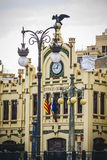 North train station, tipical architecture of the Spanish city of Royalty Free Stock Photos