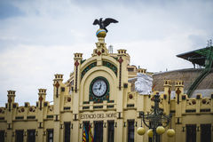 North train station, tipical architecture of the Spanish city of Royalty Free Stock Image