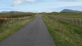 North Uist Hills. The hills of North Uist, Eaval, South Lee and North Lee, taken from Balashare Royalty Free Stock Image