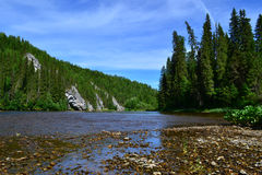 The North Urals River Royalty Free Stock Image