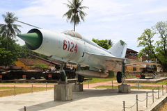 North Vietnamese Air Force MiG-21 displayed at the Hue Museum. Royalty Free Stock Photography