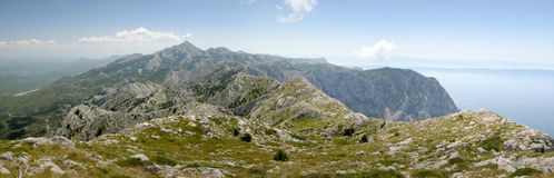 North view form summit of Sv. Ilja in Biokovo Royalty Free Stock Photos