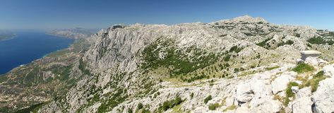 North view from summit of Vosac in Biokovo Stock Images