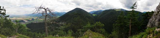 North view from Velka skala mountain in Velka Fatra mountains in Slovakia Stock Photos