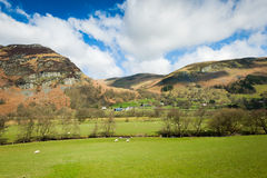 North Wales countryside landscape. In springtime Royalty Free Stock Photo