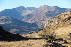 North Wales. A view from the Snowdonia national park in North  Wales Stock Photos