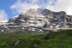 North wall of Eiger mountain, Switzerland Royalty Free Stock Photos