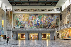 North wall of Main Hall in Oslo City Hall, Norway Stock Photo