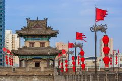 Free North Wall Of Old Town - Xian China Royalty Free Stock Photos - 144990988