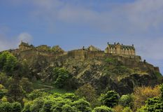North Walls of Edinburgh Castle, Scotland Royalty Free Stock Image