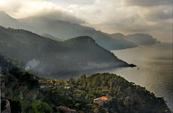 North West Coast of Majorca. The Mountains of the North West coast of Majorca, Spain Stock Image