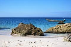 North-west coast of Socotra Island, Yemen. Beach on north-west coast of Socotra Island, Yemen Royalty Free Stock Photo