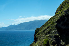 The North West Coast where the Mountains in the north of the Island of Madeira meet the Atlantic Ocean Stock Photos