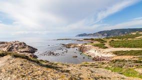North West coastline of Sardinia. North West coastline near Bosa of Sardinia island. Italy stock image