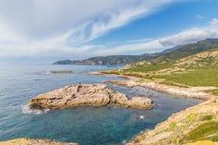 North West coastline of Sardinia. North West coastline near Bosa of Sardinia island. Italy stock images