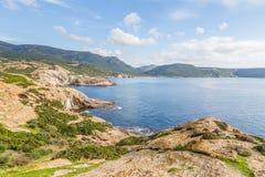 North West coastline of Sardinia. North West coastline near Bosa of Sardinia island. Italy stock photography