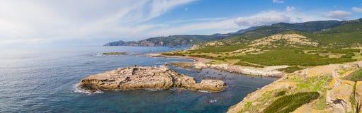 North West coastline of Sardinia. North West coastline near Bosa of Sardinia island. Italy royalty free stock photography
